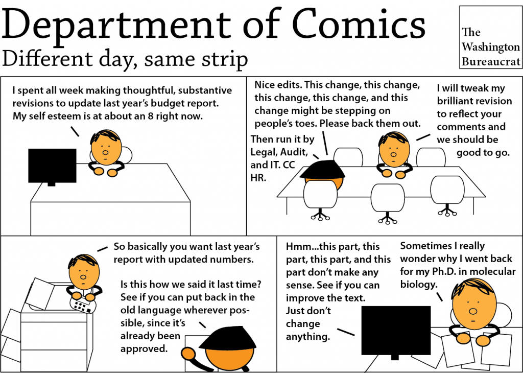 Comic about drafting documents