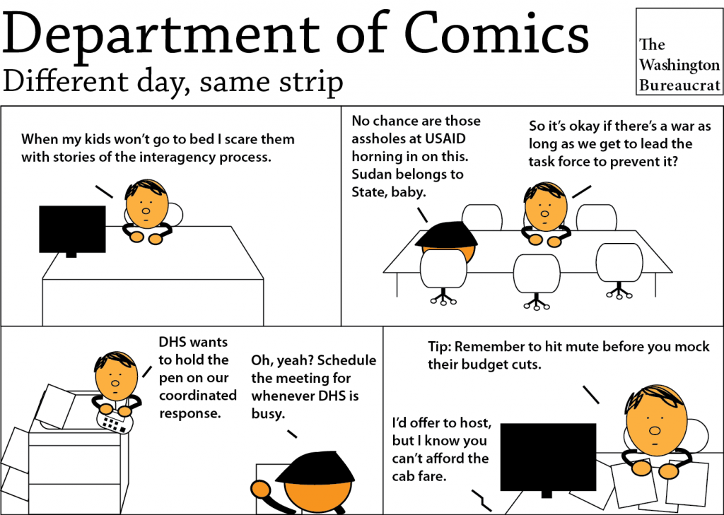 Comic about the interagency process