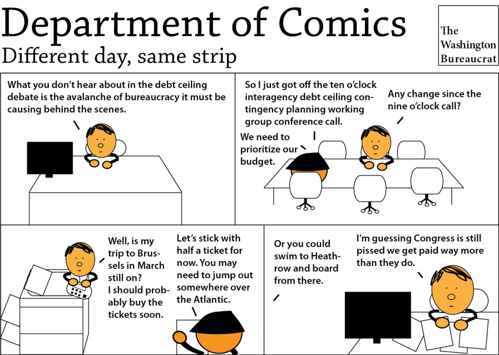 Comic about planning for the debt ceiling
