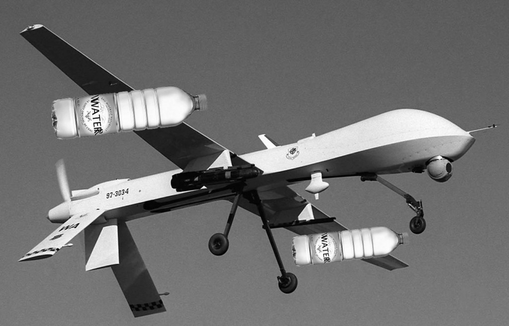 Missiles are fine, but bottled water will still be banned on drone strikes.