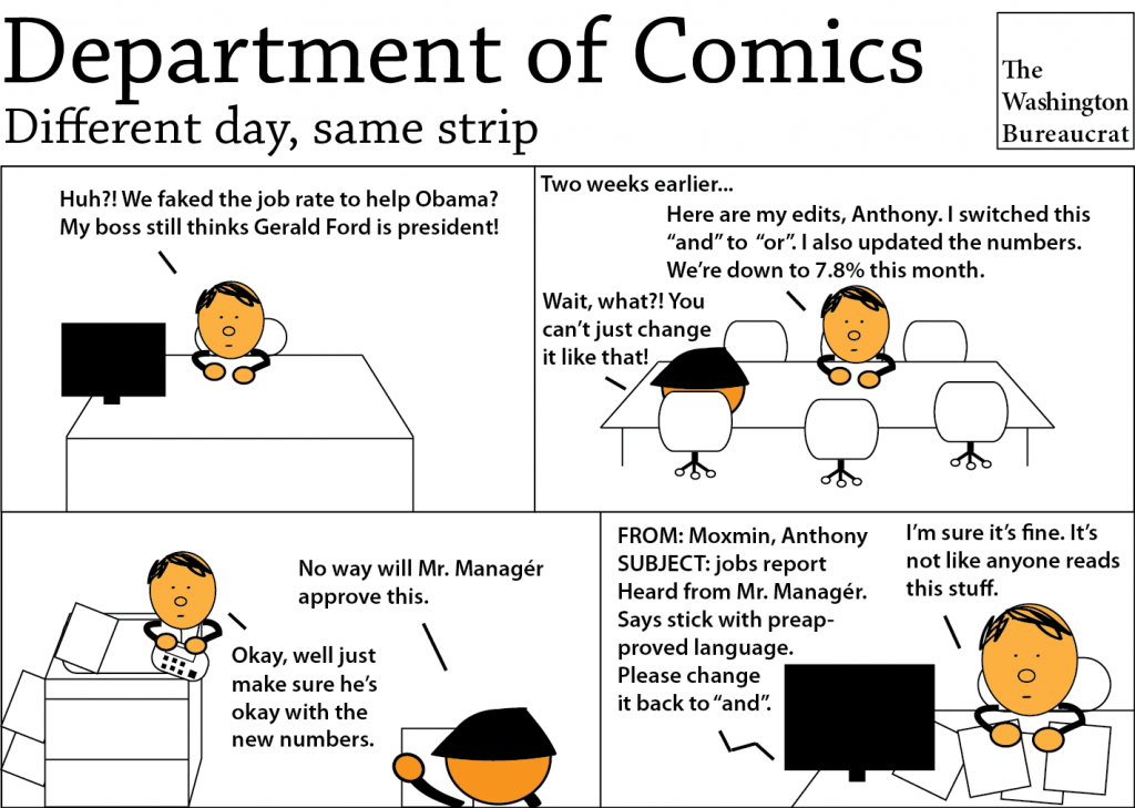 Comic about the unemployment rate