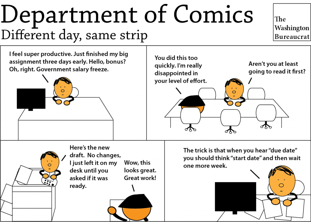 Comic about government due dates