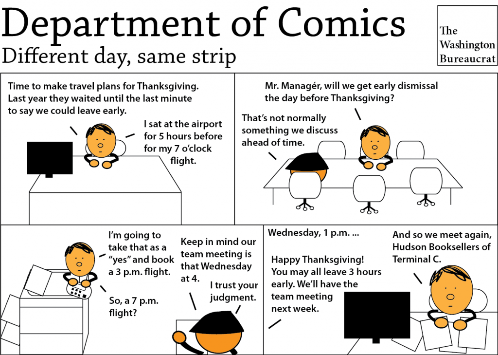 Comic about early dismissal for Thanksgiving