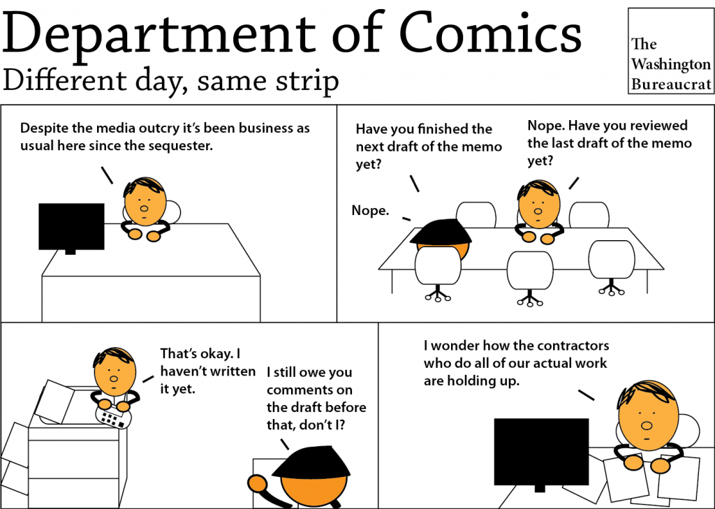 Comic about government agencies after sequester cuts